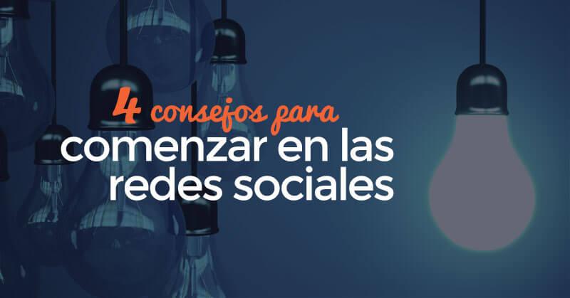 Comenzar en las redes sociales