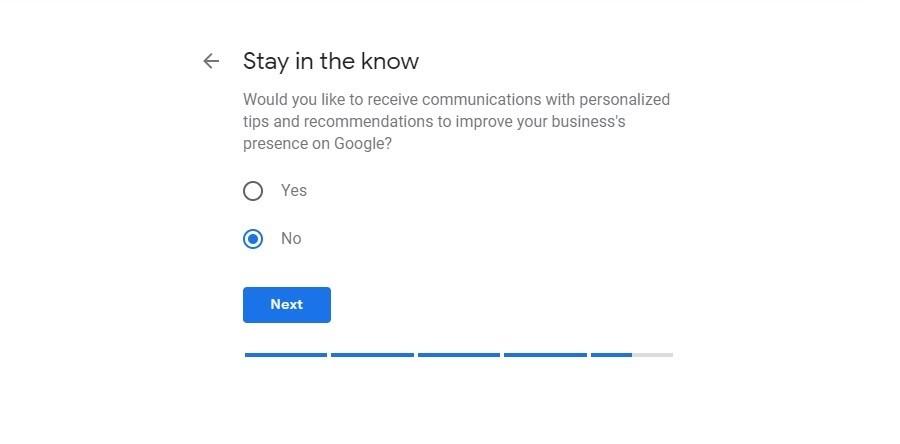 Google My Business. Notificaciones