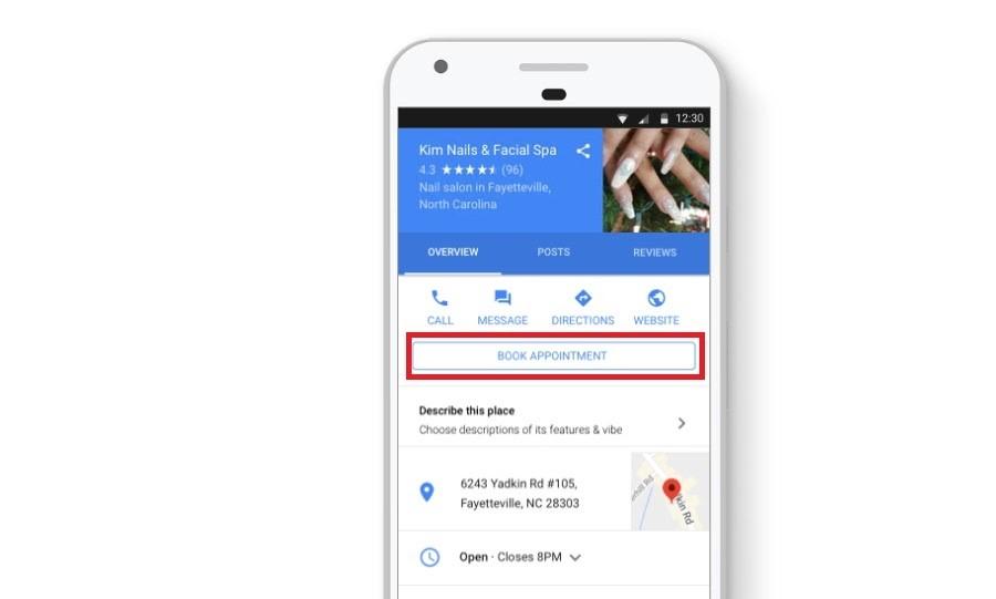 Google My Business. Botón de llamada de acción