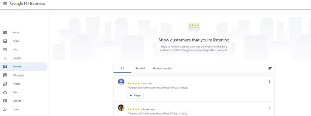 Google My Business. Responder a reseñas