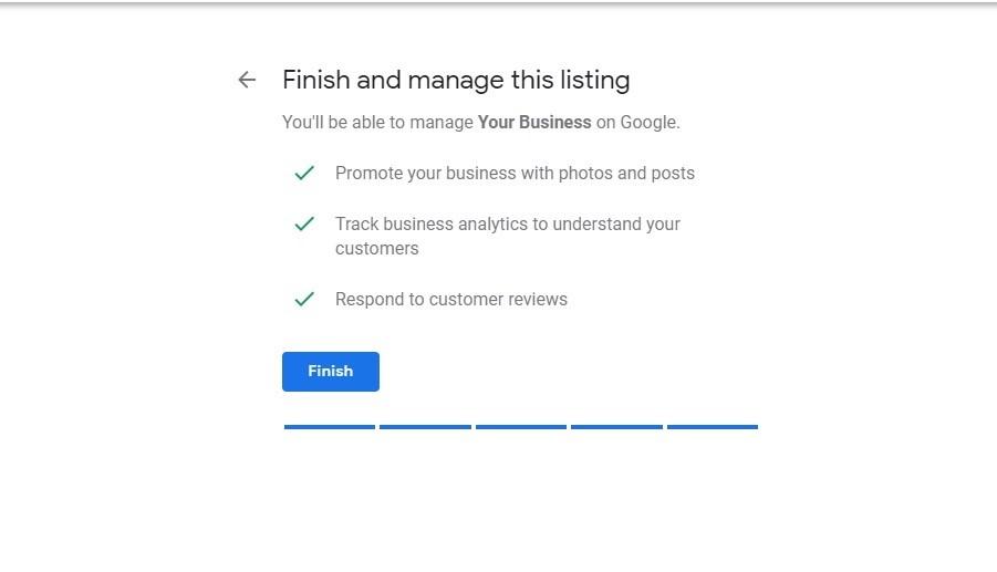 Google My Business. Finaliza listado