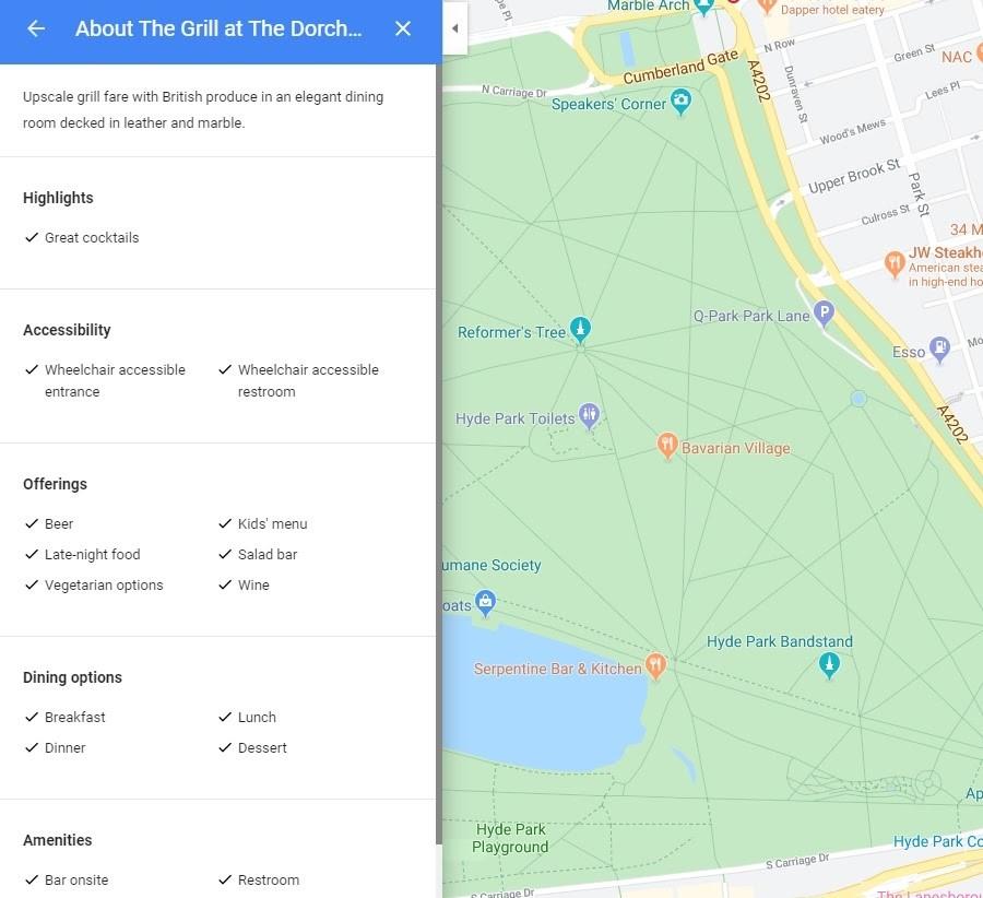 Google My Business. Información del perfil