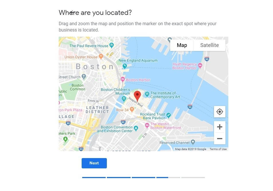 Google My Business. Pin del negocio en el mapa