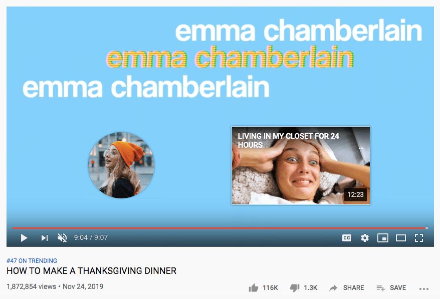 Pantalla final de video en Youtube
