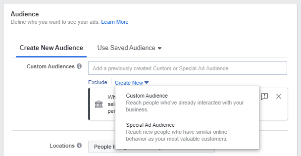 Audiencia, Facebook