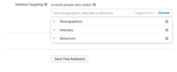 categoría de anuncios especiales en Facebook