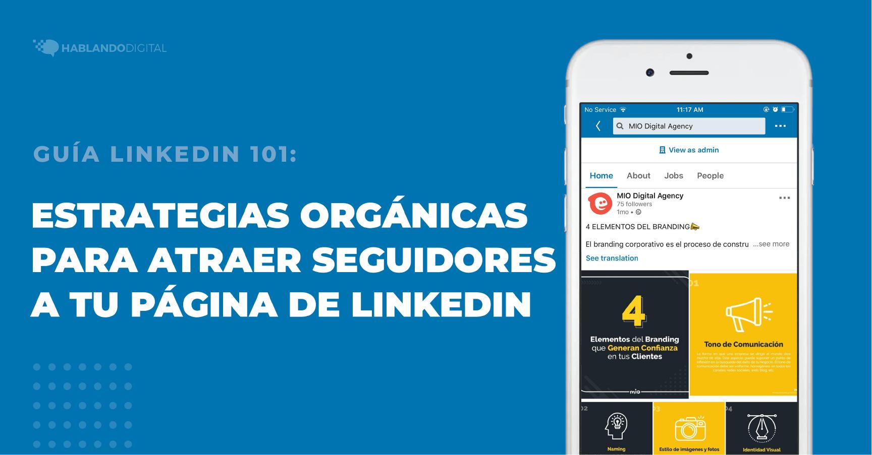 Estrategias orgánicas para atraer seguidores en página de empresa en LinkedIn