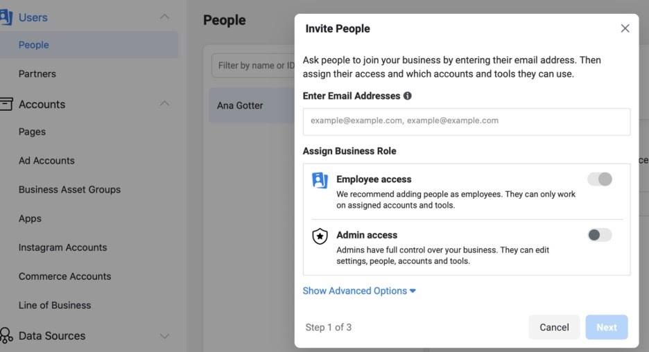 Agregar administradores en página de Facebook