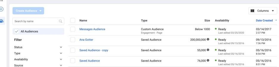Crear audiencia para anuncios en Facebook
