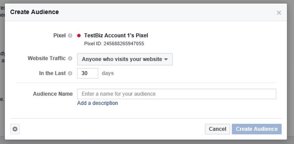 Configurar audiencia personalizada en Facebook