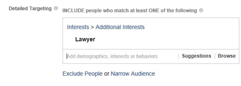 Crear audiencia detallada en Facebook a base de empleo