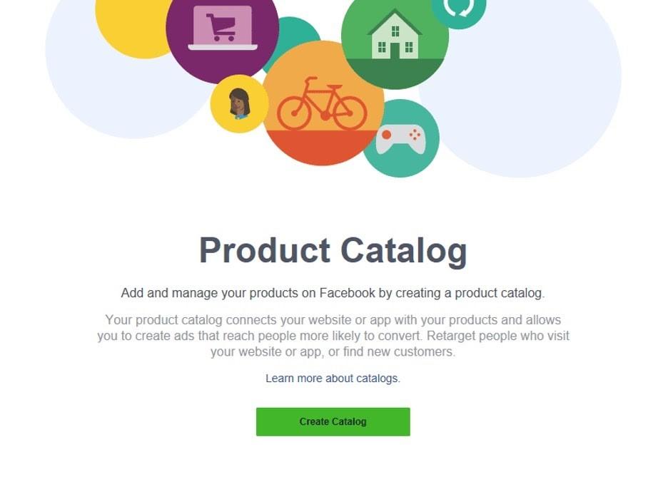 Crear catálogo en Facebook