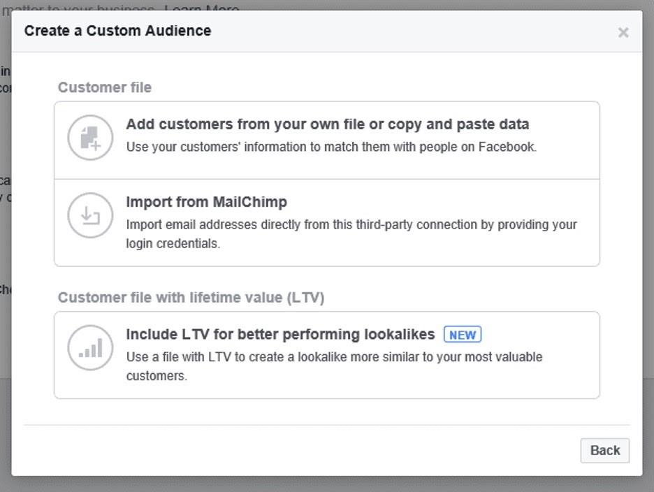 Personalizar las audiencias en administrador comercial de Facebook