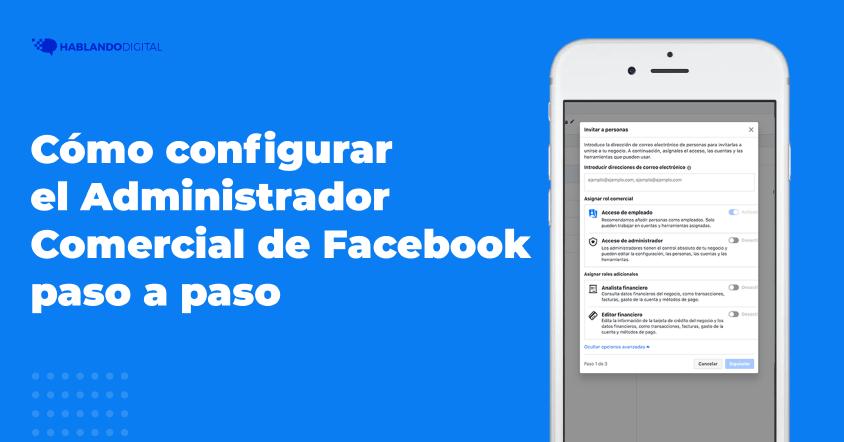 Configurar el administrador comercial de Facebook