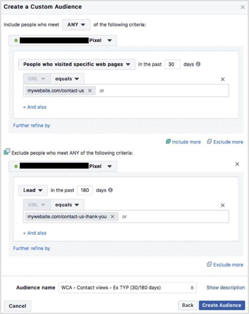 Audiencia personalizada Facebook