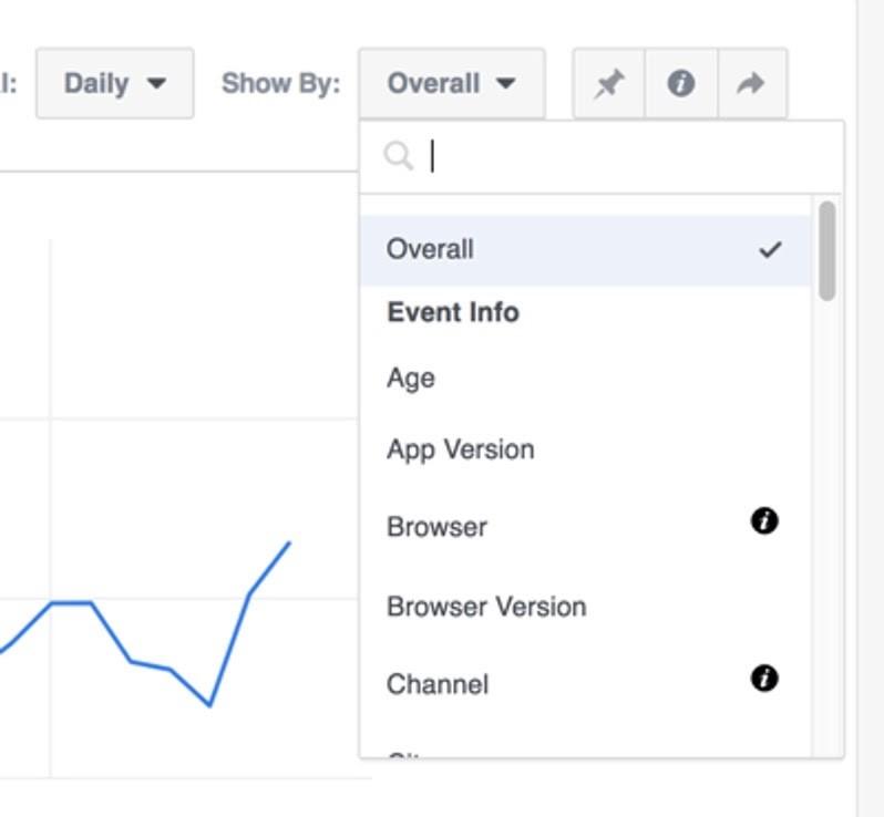 Definir datos para análisis en Facebook Analytics